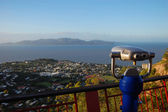 Binocular at lookout — Stock Photo