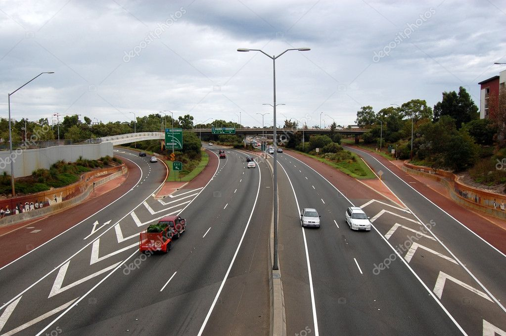 Road near city center, Perth, Western Australia — Stock Photo #9023272