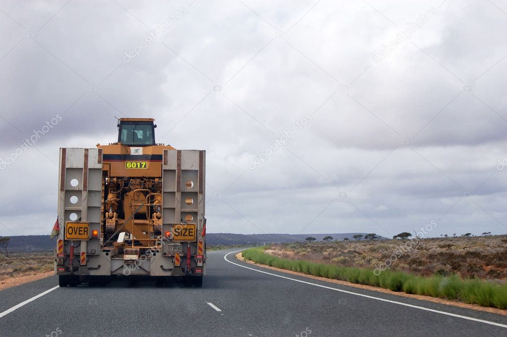 Oversize truck at the highway, Australian outback — Stock Photo #9059637