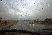 Drops on windscreen — Stock Photo
