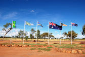 Australian and aboriginal flags — Stock Photo