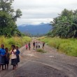 Stock Photo: Children on road in PapuNew Guinea