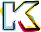 Kleurrijke lettertype. vectorillustratie — Stockvector