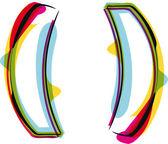 Fonte colorida. ilustração vetorial — Vetorial Stock