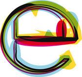 Kolorowe czcionki. ilustracja wektorowa — Wektor stockowy