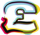 Font colorati. illustrazione vettoriale — Vettoriale Stock