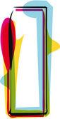 Fuente colorida. ilustración vectorial — Vector de stock