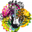 Electric Guitar design — Stock Vector