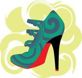 Woman Shoe, Vector illustration — Stock Vector