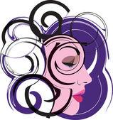 Ilustración vectorial de mujer — Vector de stock