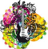 Elektrische gitaar ontwerp — Stockvector