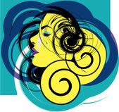 Woman vector illustration — Stock Vector