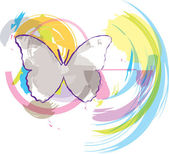 Butterfly background. Vector illustration — Stock Vector