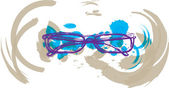 Eyeglasses illustration — Stock Vector