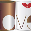 Love cup — Stockvectorbeeld
