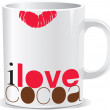 Royalty-Free Stock Vector Image: I love cocoa mug