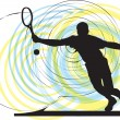 Tennis player. Vector illustration — Stock Vector