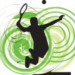 Royalty-Free Stock Vector Image: Tennis player. Vector illustration