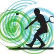 Royalty-Free Stock Vector Image: Tennis players. Vector illustration