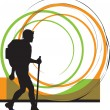 Backpacker. Vector illustration — Stockvector #8945219