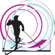 Royalty-Free Stock Vector Image: Skiing vector illustration