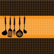 Rack of kitchen utensils — Stockvector #8945565