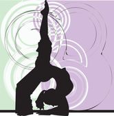 Yoga Illustration — Vettoriale Stock
