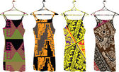Antiguos vestidos de ilustración. ilustración vectorial — Vector de stock
