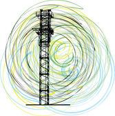 Guindaste de construção abstrata. ilustração vetorial — Vetorial Stock