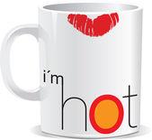 Je suis chaud. illustration vectorielle — Vecteur