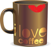 I love coffee mug — Stock Vector