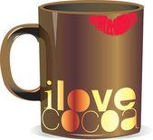 I love cocoa mug — Stock Vector
