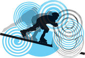 Skater. Vector illustration — Stock Vector