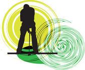 Golfer. Vector illustration — Stock Vector