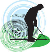 Golfer. Vector illustration — Stock Vector