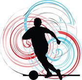 Football player. Vector illustration — Stock Vector