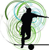 Football player. Vector illustration — 图库矢量图片