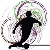 Jogador de futebol. ilustração vetorial — Vetorial Stock