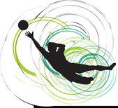 足球运动员。矢量插画 — 图库矢量图片