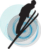 Skiing vector illustration — 图库矢量图片