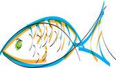 Fish. Vector illustration — Stock Vector