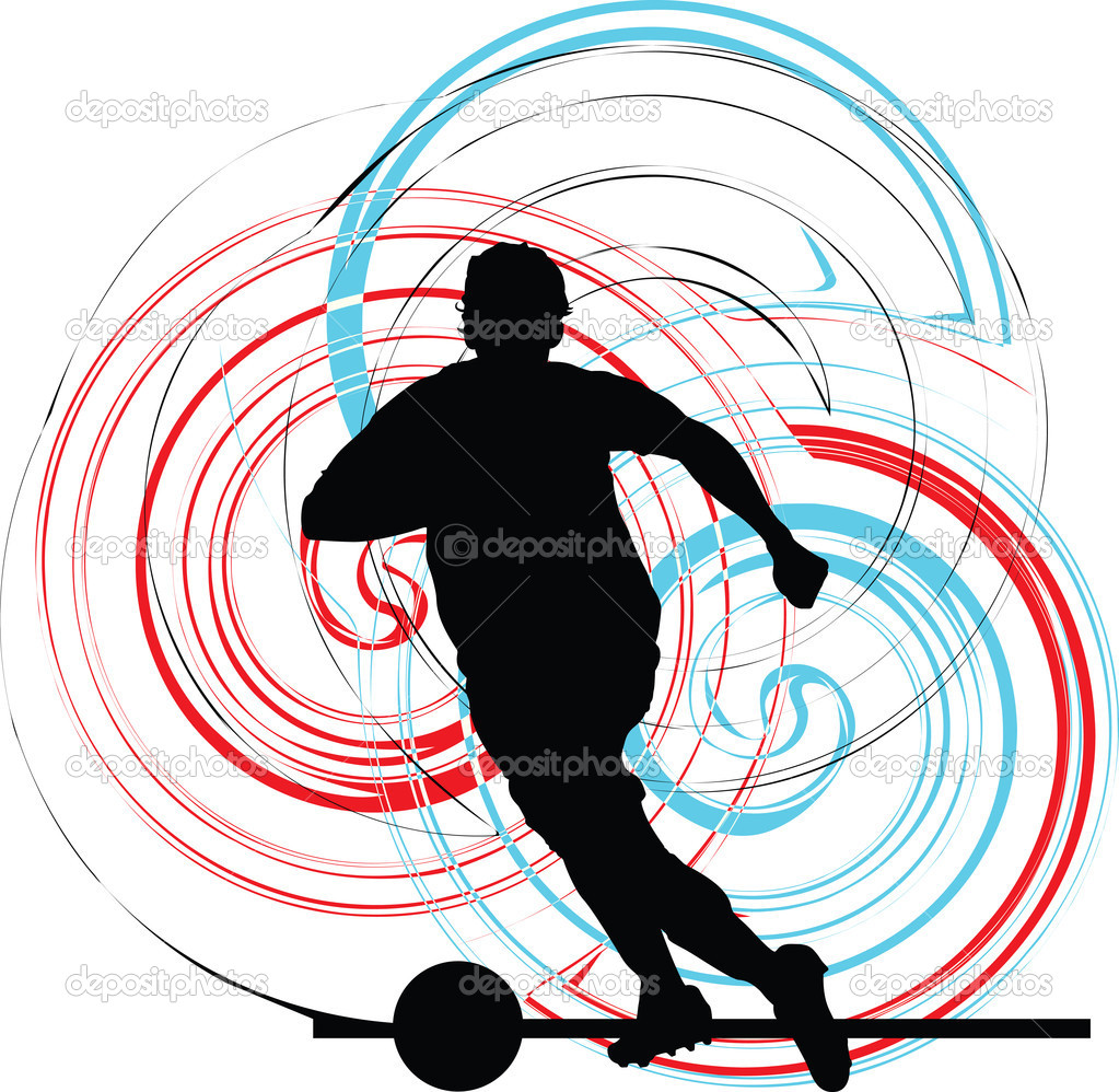 Football player. Vector illustration made in adobe illustrator — Stock Vector #8945135