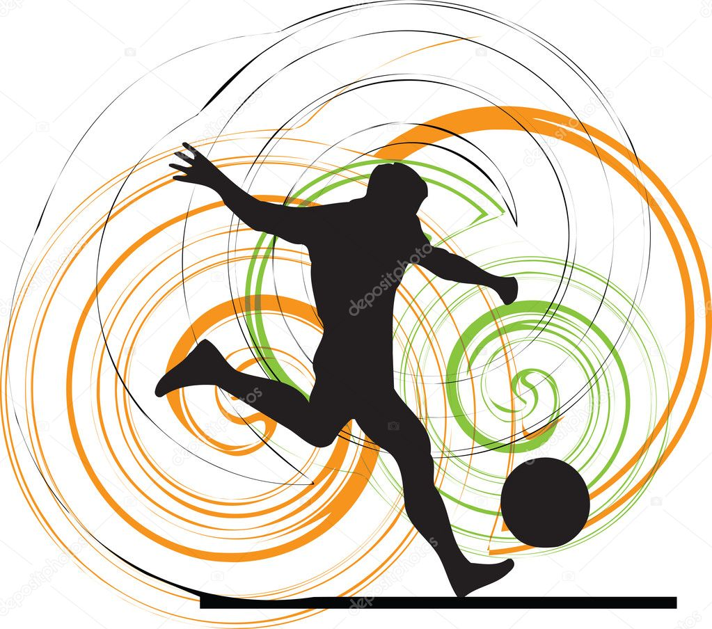 Football player. Vector illustration made in adobe illustrator — Stock Vector #8945171
