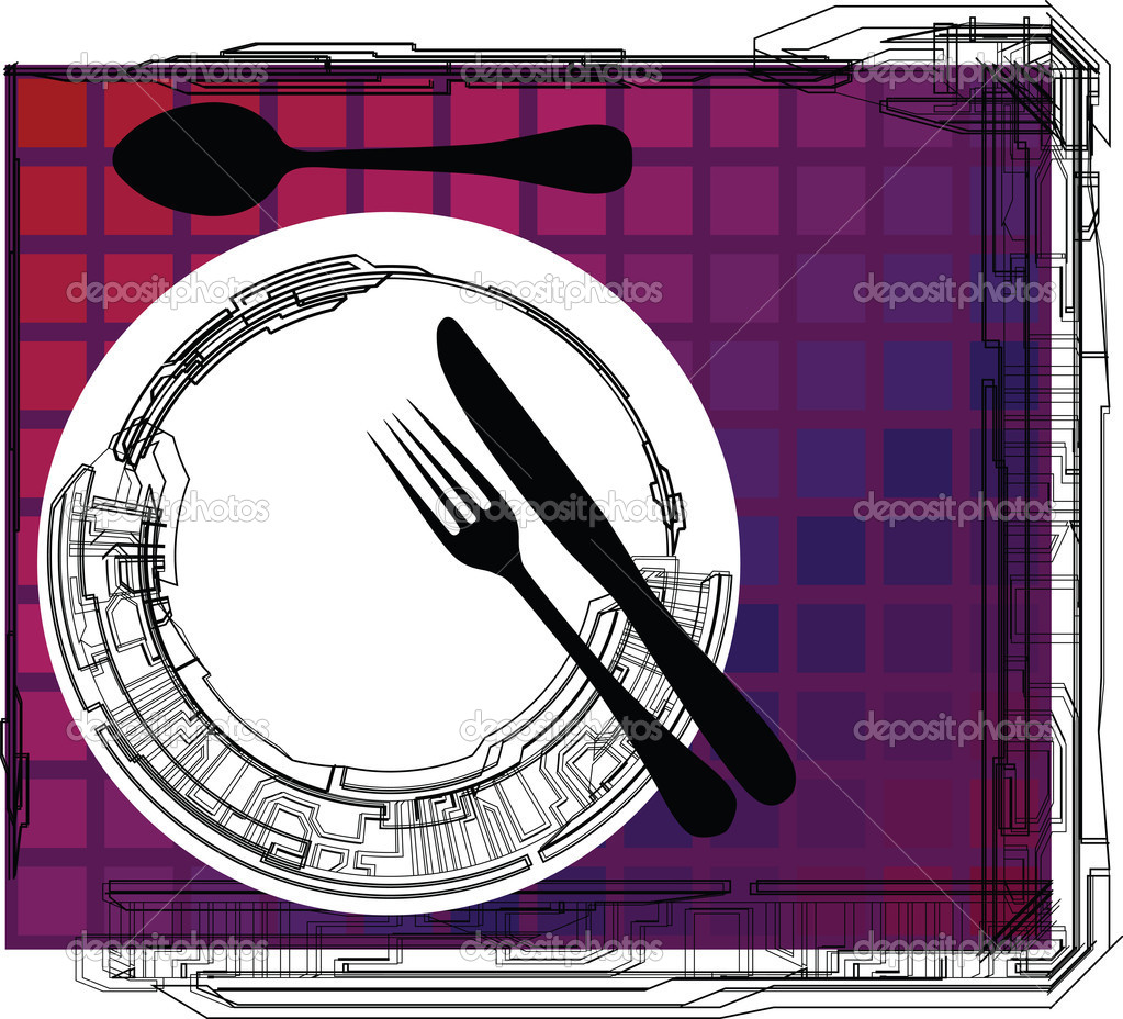 Empty plate, illustration made in adobe illustrator — Stock Vector #8945767