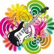 Electric guitar design. Vector illustration — Stock Vector