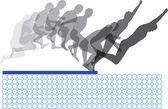 Skákat secuence. vektorové ilustrace — Stock vektor