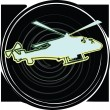 Helicopter. Vector illustration - Stock Vector