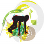 Runner in start position Illustration — Stock Vector
