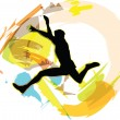 Jumping man, vector illustration — Stock Vector #8999723