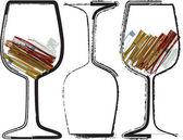 Glasses illustration — Stock Vector